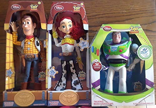 Toy Story Talking Action Figures - Woody, Jessie & Buzz Lightyear – Disney -