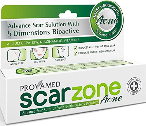 Provamed Scarzone Acne (Advance Scar Solution with 5 Dimensions Bioactive Suitable for Acne Scar Red Mark Dark Spot )10g