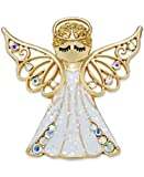 CHARTER CLUB GOLD-TONED WHITE ANGEL PIN WHITEGOLD