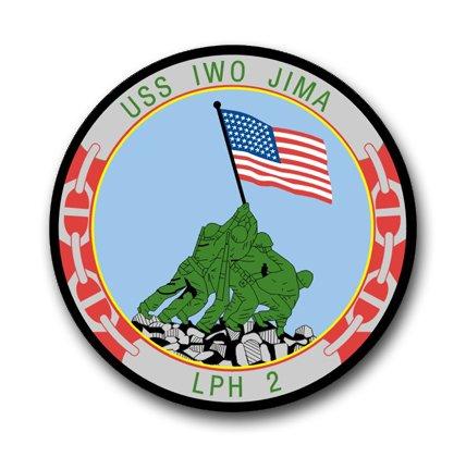 - US Navy Ship USS Iwo Jima LPH-2 Decal Sticker 3.8