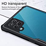 SHINESTAR Ultra Thin 360 Degree Protection Crystal Clear Tranparent Bumper Back Cover Case for Samsung Galaxy F12 / M12…