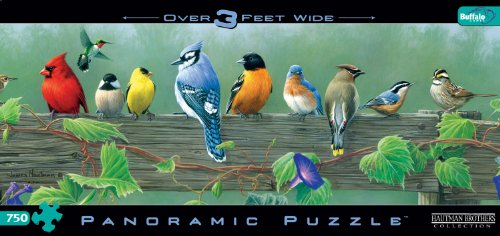Hautman Brothers Songbirds Panoramic 750pc Jigsaw Puzzle