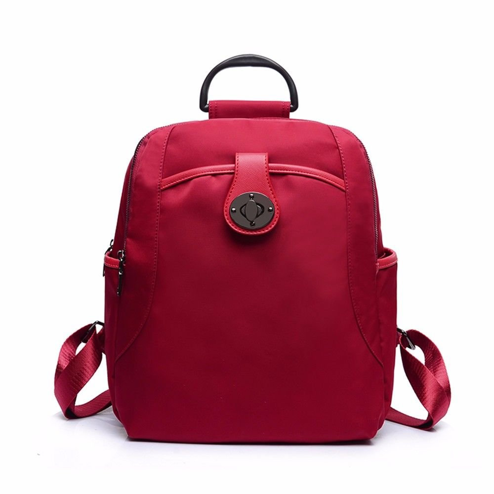 BMKWSG Damen Damen Damen Rucksack Leder Rucksack Mädchen Schultasche Casual Daypack Schulrucksäcke Tasche Modern Gules 80b07e