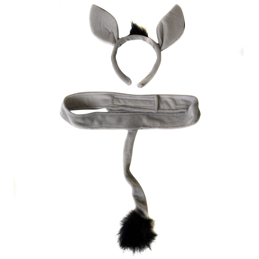 [メイキングビリーブ]Making Believe Plush Donkey Headband Ears and Tail Costume Set 413036 [並行輸入品] B0040HKZXG