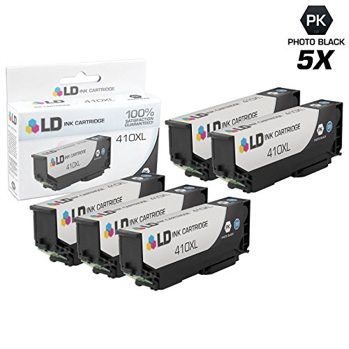 LD Products Remanufactured Ink Cartridge Replacement for Epson 410 ( Black , 5-Pack )