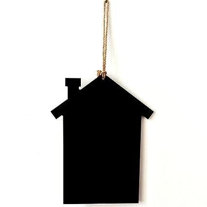 Bubugong Pájaros de madera en forma de casa colgantes tableros de mensajes pizarras decoración del hogar