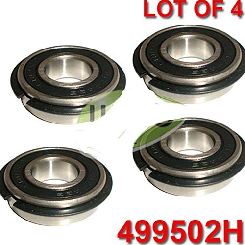 (R.A.M Reliаblе Set of x4 Wheel Bearings with Retainer, for Snapper MOWERS, REPL 1-0756, 7010756, 7010756YP)