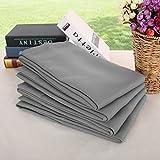 Deconovo Light Grey Blackout Curtains Rod Pocket Drapes Room Darkening Curtains for Dining Room 42 W x 63 L Light Grey 4 Panels For Sale