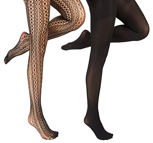 Marilyn Monroe Womens Ladies 2Pack Black Circle Fishnet
