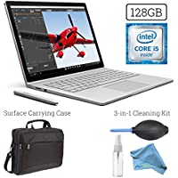 Microsoft Surface Book (128GB, 8GB RAM, Intel Core i5) + 15.6-Inch Microsoft Surface Carrying Case + 3in1 Premium Cleaning Kit (Cleaning Solution, Keyboard Dust Blower, Microfiber Cloth) PRO Bundle