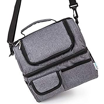 Best Lunch Bags For Women Or Men: Grey Thermal Lunch Bag For Men Woman Adult, Kids | Insulated Lunchbox, Soft Cooler Bag | Meal Prep Womens Lunch Box Compartment Lunch Tote | Men's Lunch Box For Work by Rubifo
