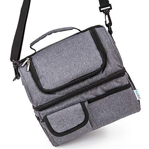 Best Lunch Bags for Women or Men: Grey Thermal Lunch Bag for Men Woman Adult, Kids | Insulated Lunchbox, Soft Cooler Bag | Meal Prep Womens Lunch Box Compartment Lunch Tote | Mens Lunch Box for Work