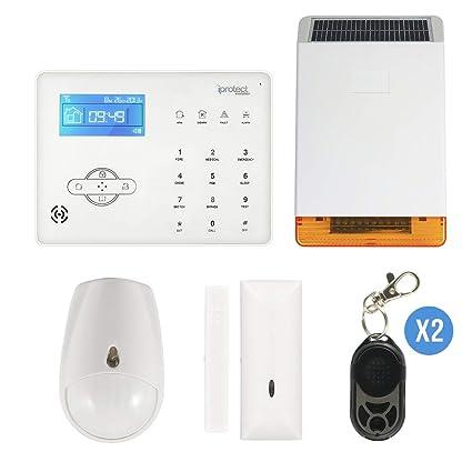iProtect - ipe-03solgsm-noc1 - Kit 03 Alarma gsm con Sirena ...