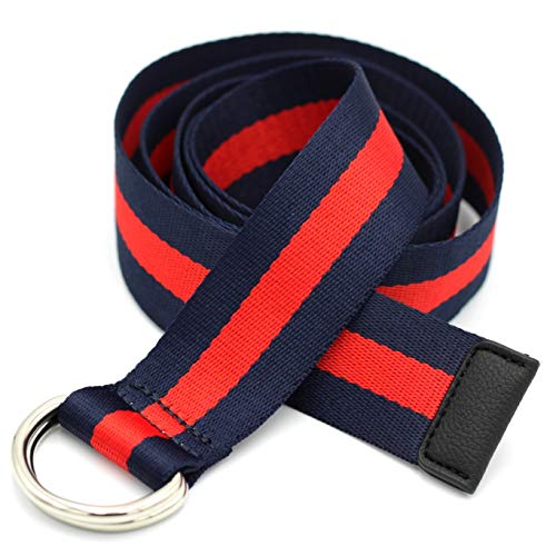 Alins Canvas Belt Double D-Ring Buckle 1.5
