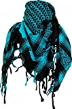 Shemagh Scarf - Black Turquoise