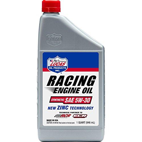 Lucas Oil 10885 Synthetic SAE 5W-30 Race Oil 6X1 Quart