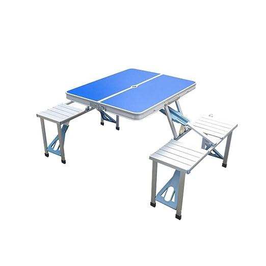 XUE-BAI Mesa Plegable Sillas y mesas Plegables de Aluminio para ...