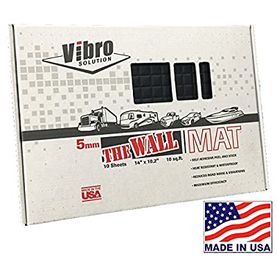 Vibro-Black 200 mil-The Thickest Firewall Sound Deadening Mat-Audio Noise Insulation Car Sound Dampening-Sound Insulator- Automotive Sound Deadener-Buy & Support Made in USA- Not Russia or China: Automotive