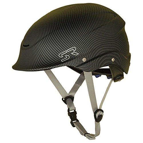 Shred Ready Helmets Standard Half-Cut Whitewater Helmet Carbon/Black