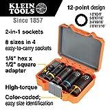 Klein Tools 66040 2-in-1 Impact Socket Set, 5-Piece