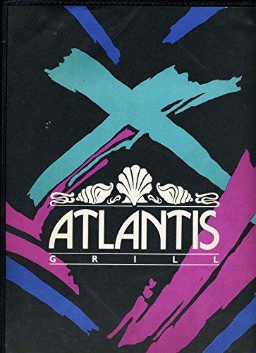Atlantis Grill And Bar Menu South Florida 1990's. (Atlantis Bar)