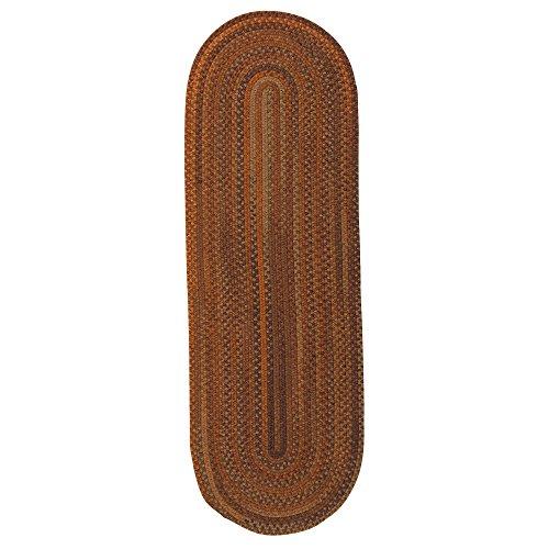 Colonial Mills BA70R030X060 Braided Wool Runner Rug 2x11 Winter Blues