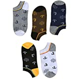 """SUSocks Ankle Socks Cotton Cool Liner Low Cut """"5 Pack"""" Men's Socks Non Slip"""