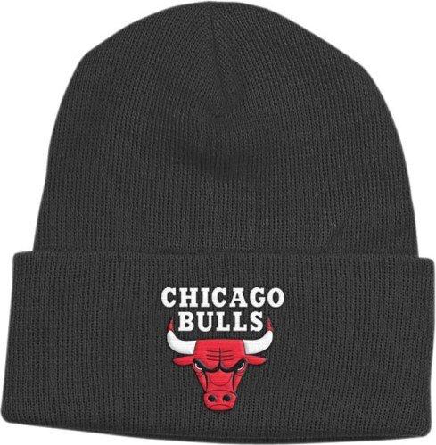 adidas Chicago Bulls Basic Logo Cuffed Pom Knit Beanie Hat/Cap -