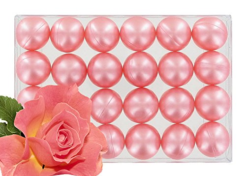 Box of 24 oil bath pearls - pearly rose S&B