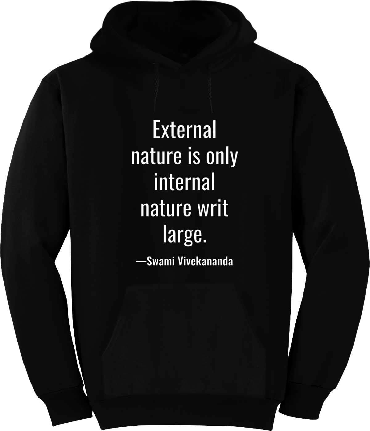 External Nature is only Internal Nature Hoodie Black