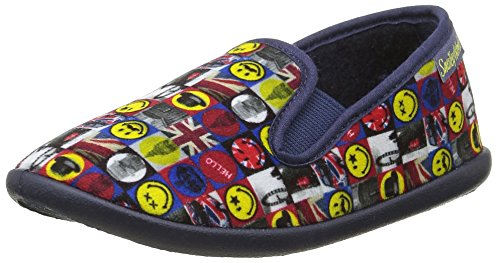 Be Only Smiley London - Zapatillas de casa Unisex Niños Azul - azul