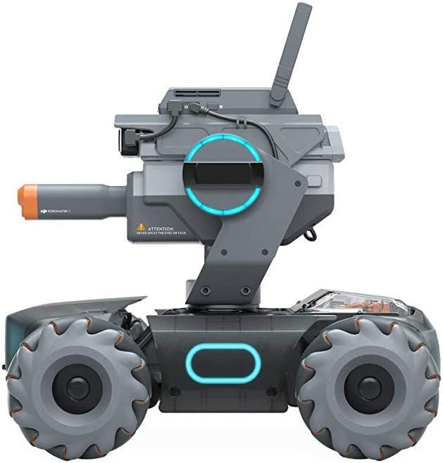 AI Technology Education and Programming Robotic Competition DJI RoboMaster S1 UK Version Intelligent Educational Robot STEM Toy Robomaster S1 with Programmable Modules Scratch and Python Coding