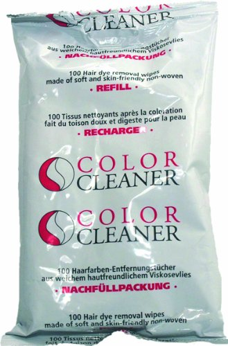 Coolike Color Cleaner - Recambio de toallitas quitamanchas para tinte de pelo (100 unidades,