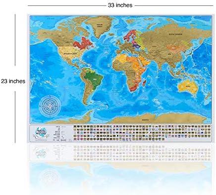 Mapa del mundo con banderas: Amazon.es: Hogar