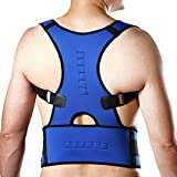 CFR™ Posture Shoulder Back Waist Support Compression Braces Prevent Hunched Back Injury Recovery Body Reshape Blue,M by USPS