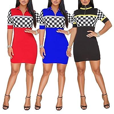 FairBeauty Women's Sexy Casual Bodycon Mini Dress T-Shirt Dress