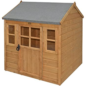 Bosmere PHLODGE Rowlinson Little Lodge Kids Wooden Play House, Honey-Brown Finish