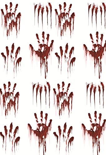 Yeele 8x10ft Halloween Background for Photography Handprint Horror Bloody Wall Night Photo Backdrop Children Kids Boys Adult Portrait Booth Shoots Studio Props Wallpaper