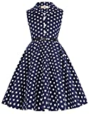 Girl's Sleeveless Vintage Polk Dot Party Dresses 10yrs CL9000-2