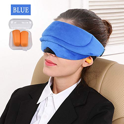 Soft Breathable Fabrics 3D Sleep Eye Mask Sleeping Eye Cover Blindfold Accessory Eyeshade Women Men Travel Cover Shade Eyepatch Blue