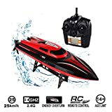 MOGOI Remote Control Boat for Pools & Lakes, RC Boats for Kids & Adult 30KM/H 180 Degree Flip High Speed Electric RC Racing Boat Self Righting Remote Controlled Boat - High Speed Boat Toys