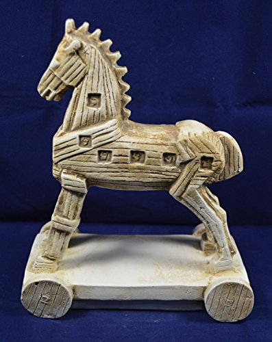 Trojan horse sculpture artifact statue by Estia Creations