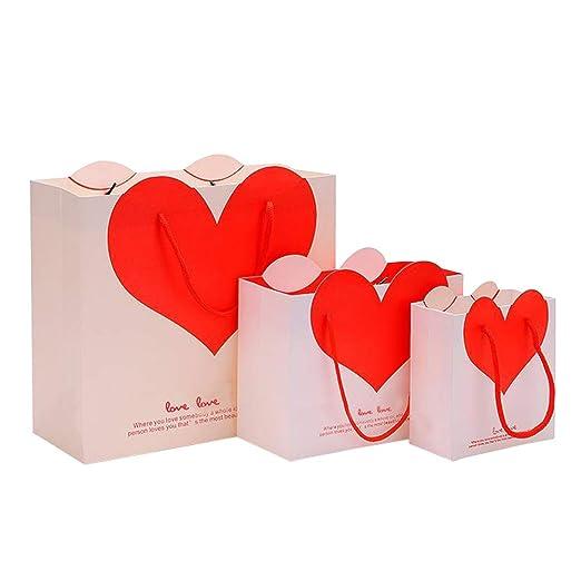 Amosfun Bolsas de Regalo para el día de San Valentín Boda ...