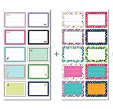 #9: IMagicoo 200 Pcs Cute Name Tag Label Sticker School Office Party Stickers, 2'' x 1.4''
