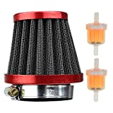 38mm Performance Red Air Filter Plastic Fram Inline Fuel Filters for Chinese GY6 50c 139QMB Motorcycle Scooter Moped 50cc 110cc 125cc SDG SSR Dirt Pit Bike