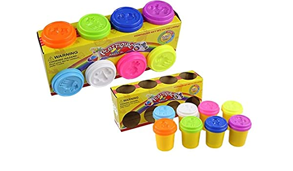 Pack de 8 colores de Plastilina Infantil Masa de Juguete: Amazon.es: Juguetes y juegos