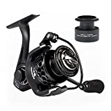 KastKing Mela II Spinning Reel, Light, Smooth Fishing Reel, Free Spare Graphite Spool, 10 + 1 BB, 5.2:1 Gear Ratio, Powerful Carbon Fiber Drag System.