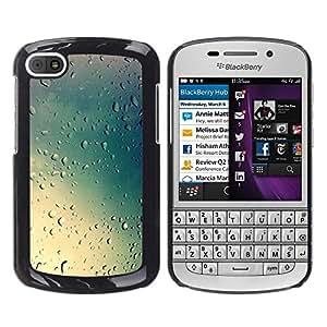 Be Good Phone Accessory // Dura Cáscara cubierta Protectora Caso Carcasa Funda de Protección para BlackBerry Q10 // rain glass blue clouds sky summer