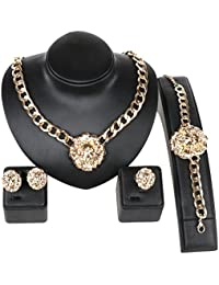 Gold/Silver Plated Lion Head Chain Statement Necklace...