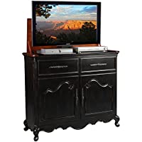 TV Lift Cabinet for 32-46 inch Flat Screens (Weathered Black) AT006332-BLK